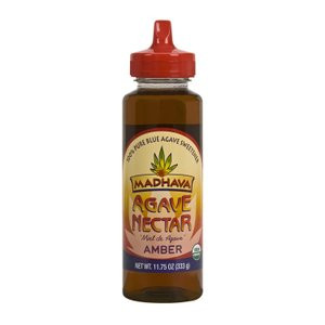 Madhava Organic Agave Nectar Amber, 11.75 oz. (Pack of 12)