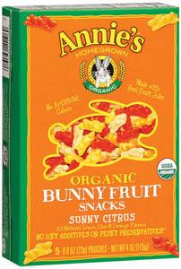 Annie's Organic Bunny Fruit Snacks Sunny Citrus