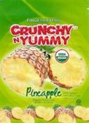 Crunchy n Yummy Organic Freeze Dried Fruit Pineapple, 1 oz.