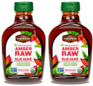 Madhava Organic Agave Nectar Amber Raw, 23.5 oz. (Pack of 2)