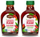 Madhava Organic Agave Nectar Amber Raw, 23.5 oz. (Pack of 2)