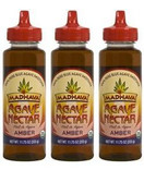 Madhava Organic Agave Nectar Amber, 11.75 oz. (Pack of 3)