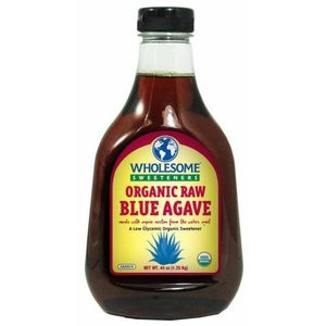 Wholesome Sweeteners Organic Raw Blue Agave Nectar, 44 oz. (Pack of 4)