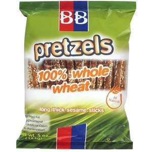 B&B Beigel Beigel 100% Whole Wheat Pretzels Sticks Sesame