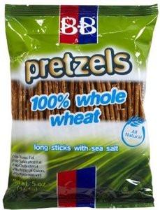 B&B Beigel 100% Whole Wheat Pretzels Long Sticks Sea Salt