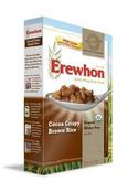 Erewhon Organic Gluten Free Cocoa Crispy Brown Rice Cereal, Case 6 x 10.5 oz