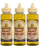 Madhava Organic Agave Nectar Light, 11.75 oz. (Pack of 3)