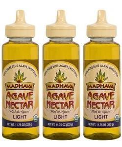 Madhava Organic Agave Nectar Light, 11.75 oz. (Pack of 3)