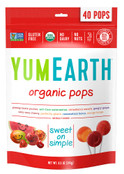 Yummy Earth Organic Lollipops Assorted Fruit Flavors, Case of 12 x 8.5 oz