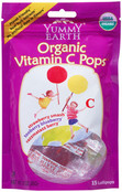 Yummy Earth Organic Vitamin C Pops, 3 oz (Pack of 12)