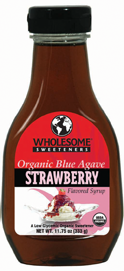 Wholesome Sweeteners Organic Blue Agave Nectar Strawberry Flavor