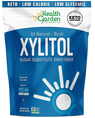 Health Garden Real Birch Xylitol, 5 lbs.(case of 6)
