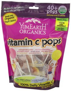 Yummy Earth Organic Vitamin C Lollipops Assorted, 8 5 oz (Pack of 2