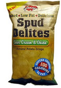 Glennys Spud Delites Sour Cream and Onion, Case of 24 x 1.1 oz.