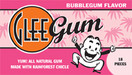 Glee Gum All Natural Gum Bubblegum, 16 Pieces