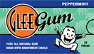 Glee Gum All Natural Gum Peppermint, 16 Pieces