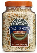Rice Select Pearl Couscous Tri Color Pasta, 11.53 oz Jars (Pack of 6)