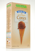 Goldbaums Gluten Free Cocoa Sugar Ice Cream Cones, 5 oz (Case of 12)