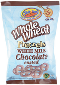 Shibolim Whole Wheat Pretzels White Milk Chocolate Coated, 4 oz.