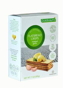 Goldbaums Gluten Free Flatbread Crisps Roasted Garlic