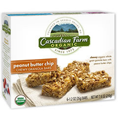 Cascadian Farm Organic Peanut Butter Chip Chewy Granola Bars