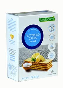 Goldbaums Gluten Free Flatbread Crisps Just Salt