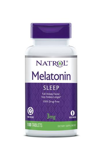 Natrol Melatonin Time Release 3mg, 100 Tabs