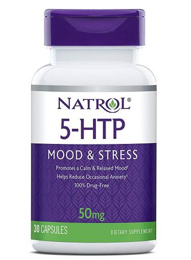 Natrol 5-HTP Mood & Stress 50mg, 30 Tablets - FREE Shipping