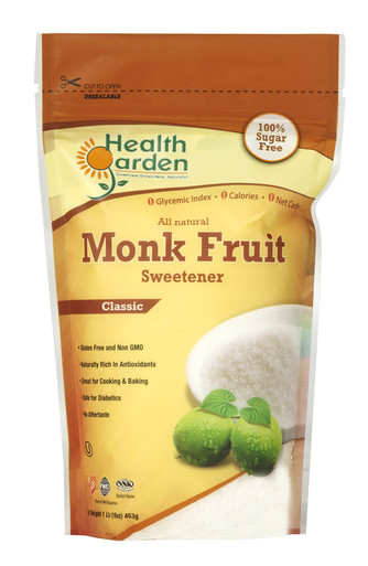 Health Garden Monk Fruit Sweetener, 1 lb.