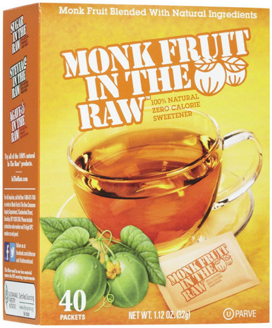 Monk Fruit In The Raw, 40 Packets