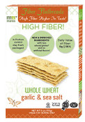 Mauzone Mania High Fiber Whole Wheat Flatbreads Garlic & Sea Salt, 6 oz.