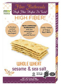 Mauzone Mania High Fiber Whole Wheat Flatbreads Sesame & Sea Salt