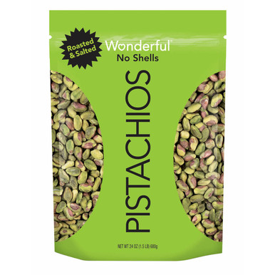 Wonderful Pistachios No Shells Roasted Salted, 24 oz.