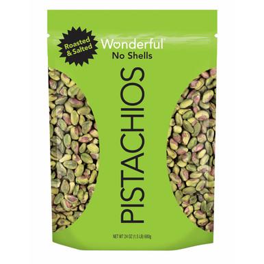 Wonderful Pistachios No Shells Roasted Salted, 24 oz.