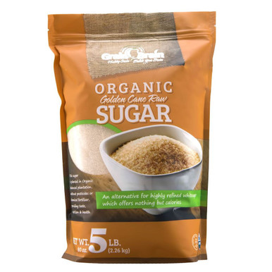Grain Brain Organic Golden Cane Raw Sugar, 5 lbs.