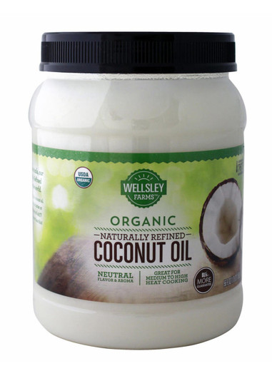 Wellsley Farms Organic Naturally Refined Coconut Oil
