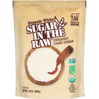 Organic White Sugar In The Raw Cane Sugar, 24 oz.