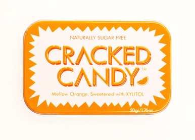 Cracked Candy Sugar Free Xylitol Mellow Orange