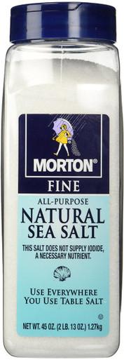 Morton All-Purpose Fine Natural Sea Salt