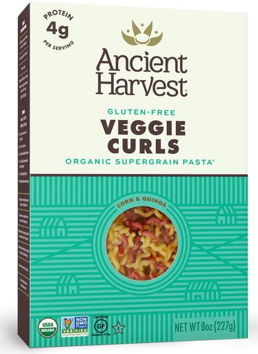 Ancient Harvest Organic Quinoa Veggie Curls Gluten Free Pasta, 8 oz.
