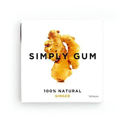 Simply Gum All Natural Gum Ginger