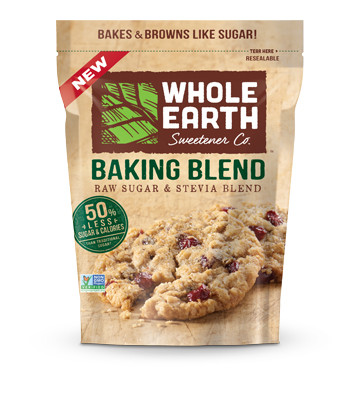 Whole Earth Raw Sugar and Stevia Baking Blend, 24 oz.