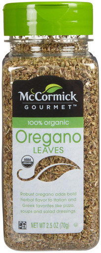 McCormick Gourmet Organic Oregano Leaves, 2.5 oz.