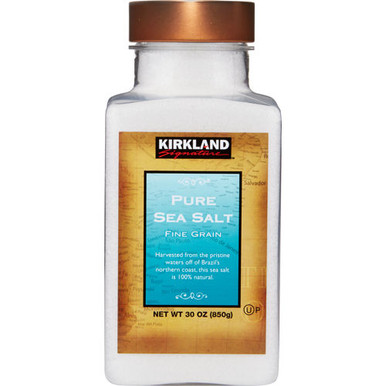 Kirkland Pure Sea Salt Fine Grain, 30 oz