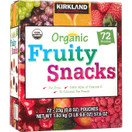 Kirkland Organic Fruity Snacks, 72 Pouches