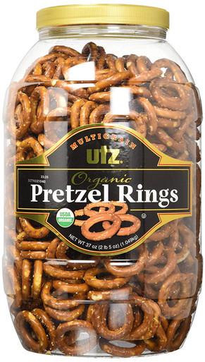 Utz Multigrain Organic Pretzel Rings JUMBO Barrel