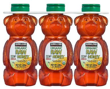 Kirkland Organic Raw Honey Bears, 24 oz.