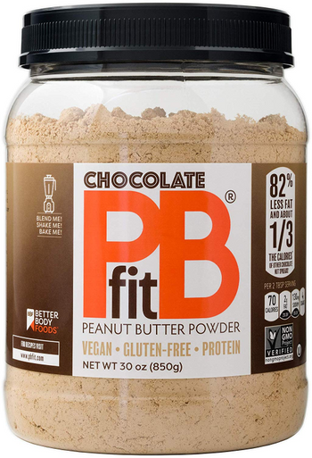 Better Body Foods PB Fit Chocolate Peanut Butter Powder, 30 oz