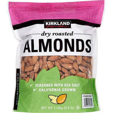 Kirkland Dry Roasted Almonds, 2.5 lbs.