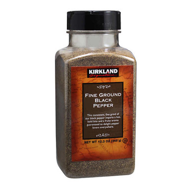 Kirkland Fine Ground Black Pepper, 12.3 oz.